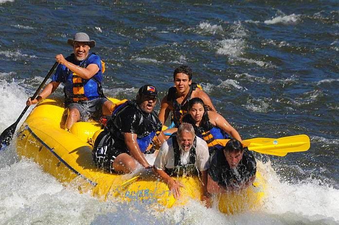 Joe is the guy up front in the white t-shirt. Ernie is the guy in back. He has been rafting with us for years.