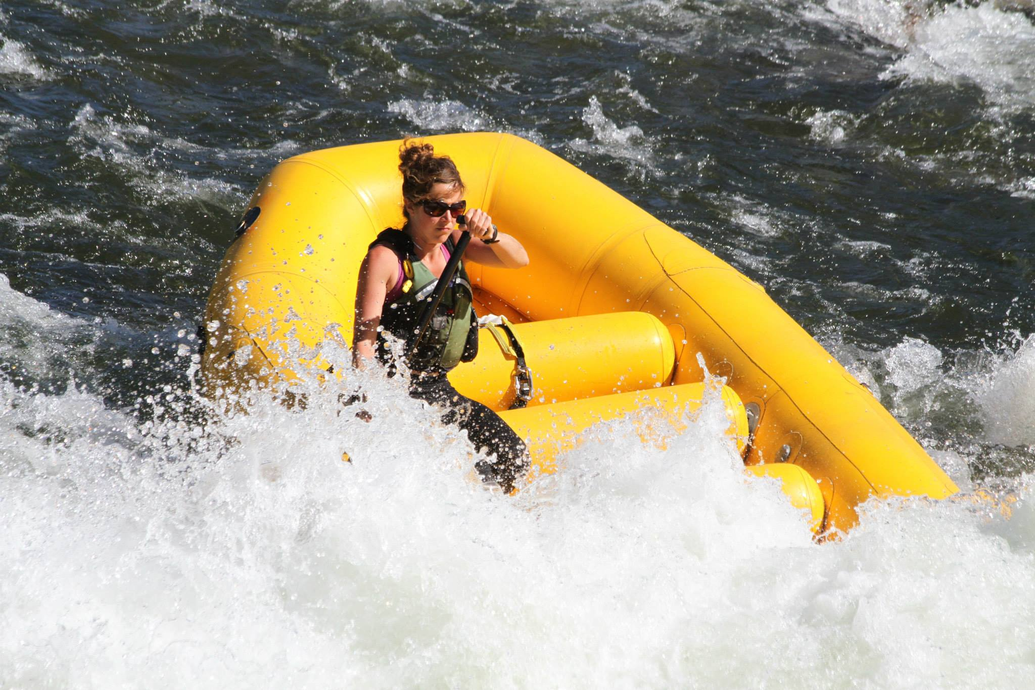 woman rafting