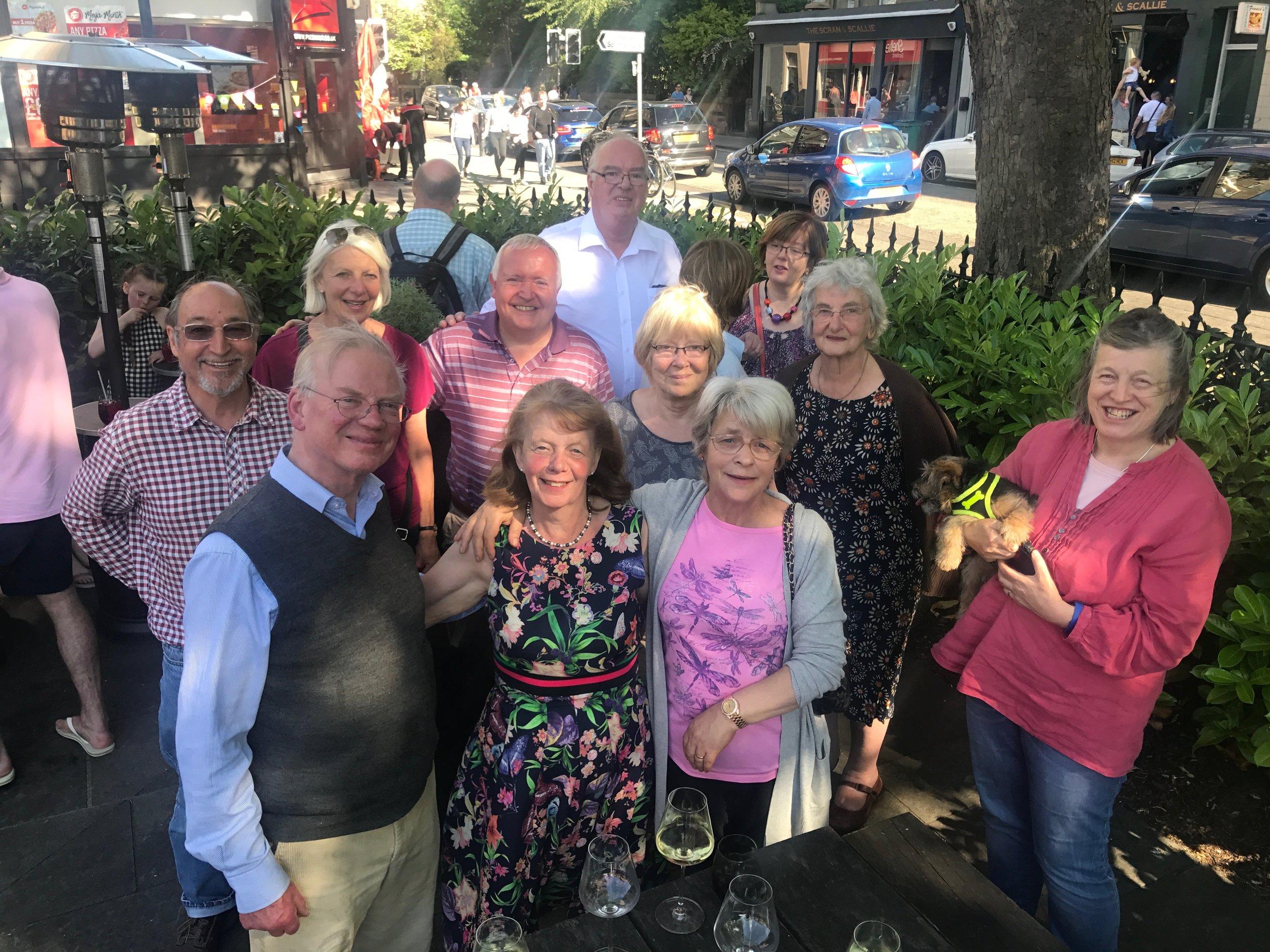 Locals bid farewell to Moira at   The Raeburn