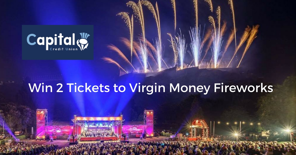 To celebrate the Edinburgh International Festival, Capital Credit Union is offering a lucky winner the chance to win 2 tickets to the Virgin Money Fireworks Concert on 28 August in Princes Street Gardens.  Photograph (c) Studio 2 Photography : used with permission.