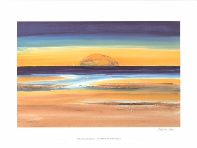 Ailsa Craig (S)By Dorothy Bruce 50.5cm (w) x 33 (h) - Image 61cm (w) x 46 (h) - Paper.jpg