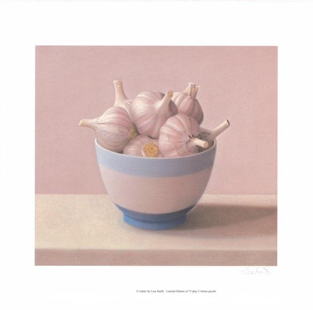 Garlic (S) By Lisa Smith35.5cm (w) x 32 (h) - Image 45.5cm (w) x 45.5 (h) - Paper.jpg