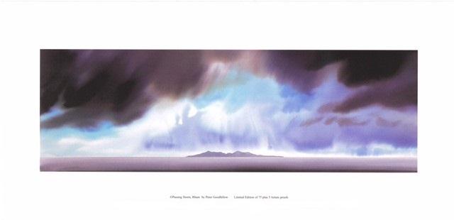 Passing Storm, Rhum (US) By Peter Goodfellow 50.5cm (w) x 16.5 (h) - Image 61cm (w) x 30 (h) - Paper.jpg