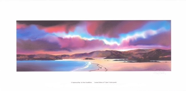 Sandwood Bay (S) By Peter Goodfellow 50.5cm (w) x 16.5 (h)  Image 61cm (w) x 30 (h)  Paper.jpg