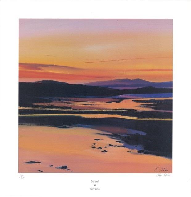 Sunset (S)By Pam Carter 50cm (w) x 50 (h)  Image 62cm (w) x 64 (h)  Paper.jpg
