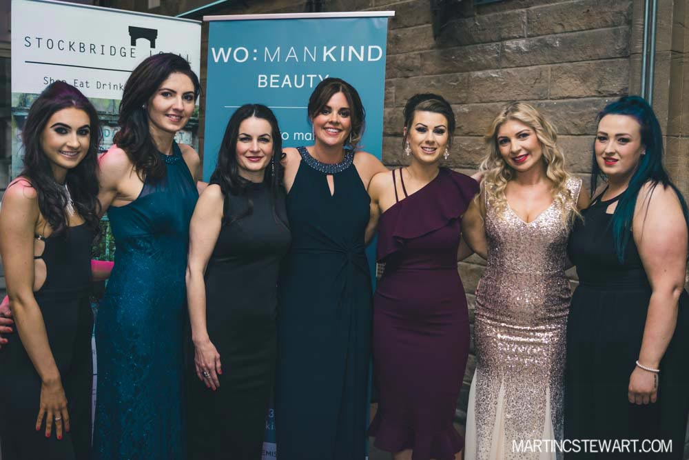 Staff of Womankind Beauty (L-R), Jenna, Monika, Angela, Lauren, Tegan, Patrycja, Roisin.