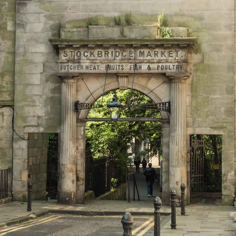 Original Stockbridge Market Entrance, by Martin Stewart
