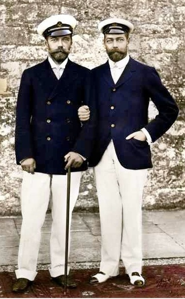 King George of England and Tsar Nicholas of Russia