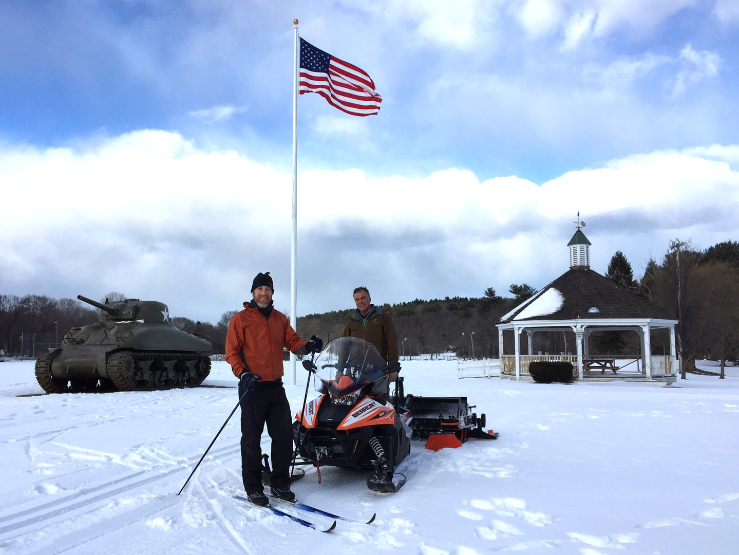 Greg Horner and Tom Catalano grooming at Patton Park