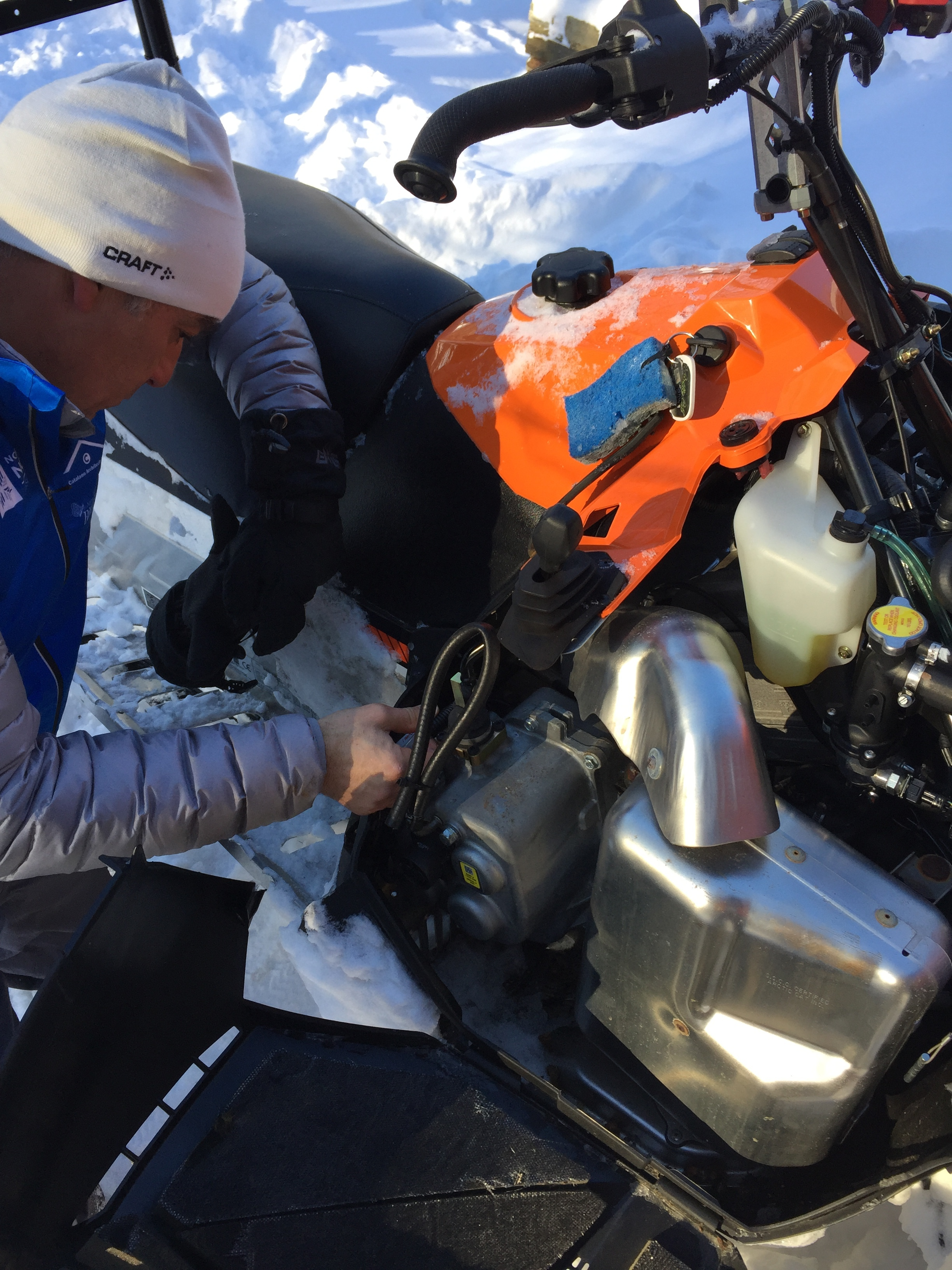 The inglorious side of grooming: Delving into the mysteries of sled transmission sensor wire troubleshooting.