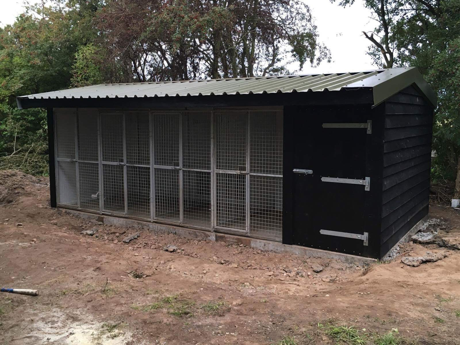 Block of dog kennels for a game-keeper's dogs