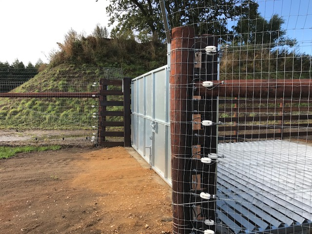 Specialist grids and high quality gates keep wildlife secure