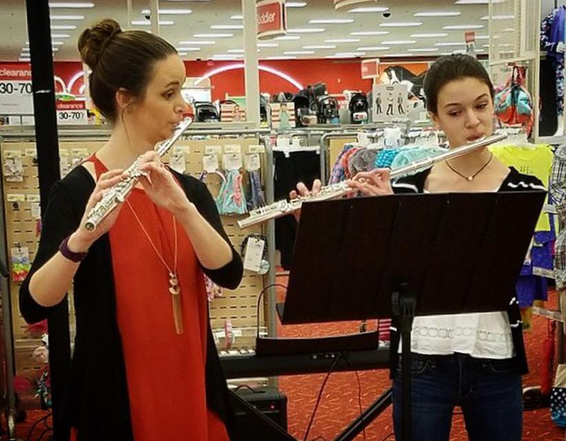 Flute duets at Target with a first year student!