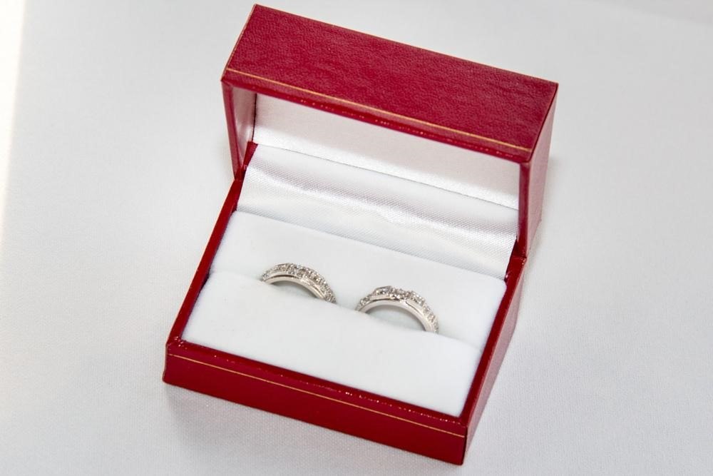 These beautiful rings; used in the exchanging of rings as the brides exchange their vows. #loveislove
