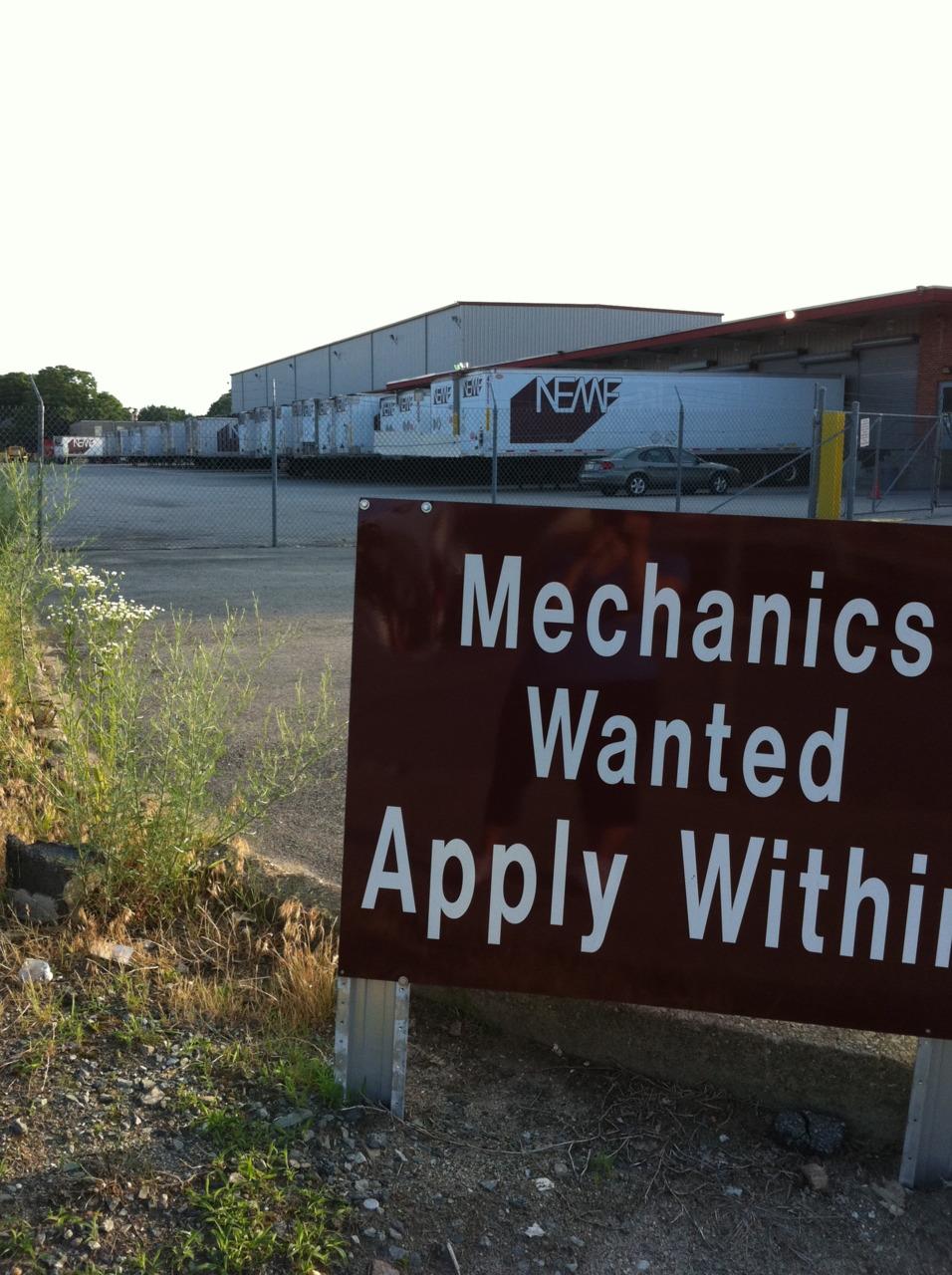 Mechanics wanted.