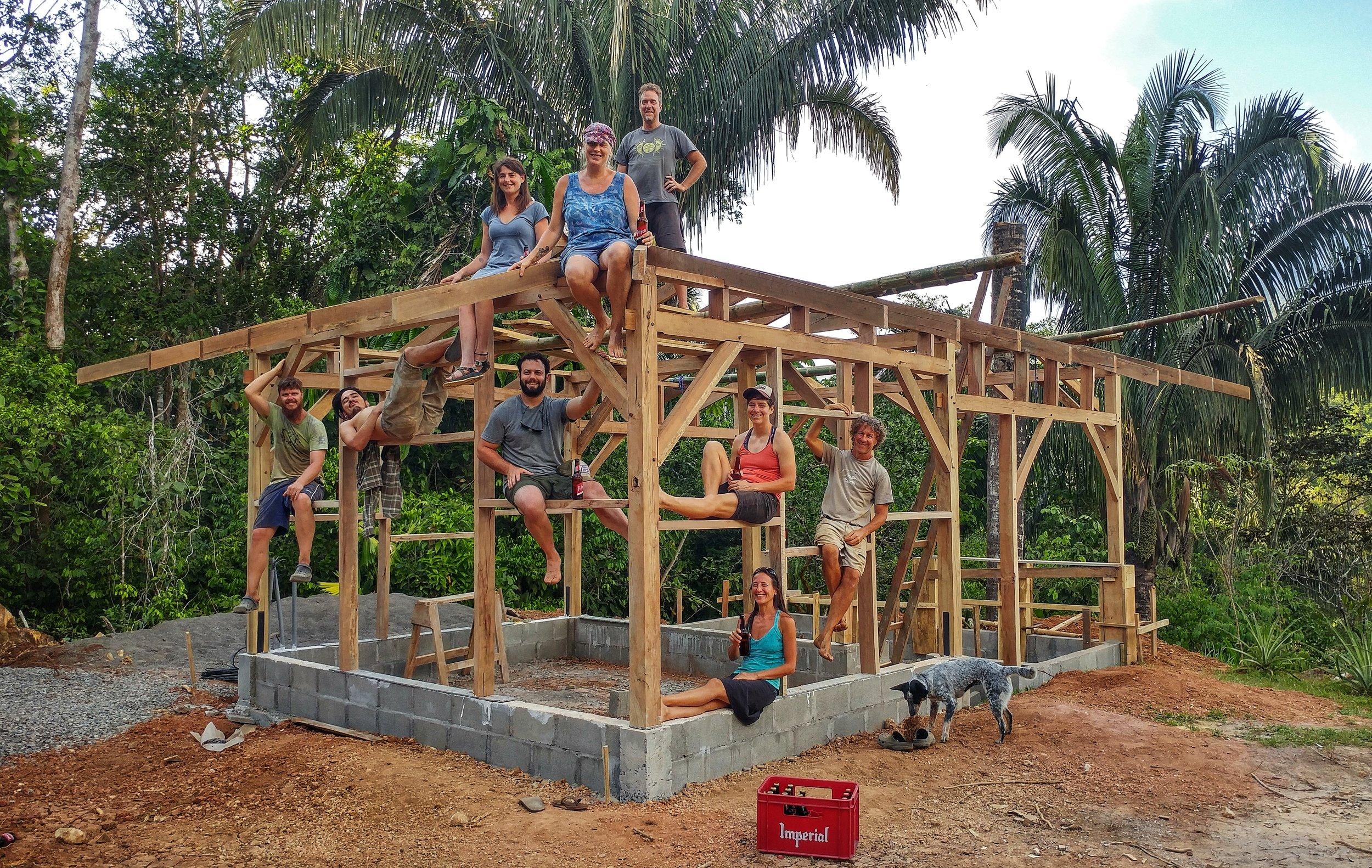 Natural Building - Timber Frame Construction Rancho Mastatal