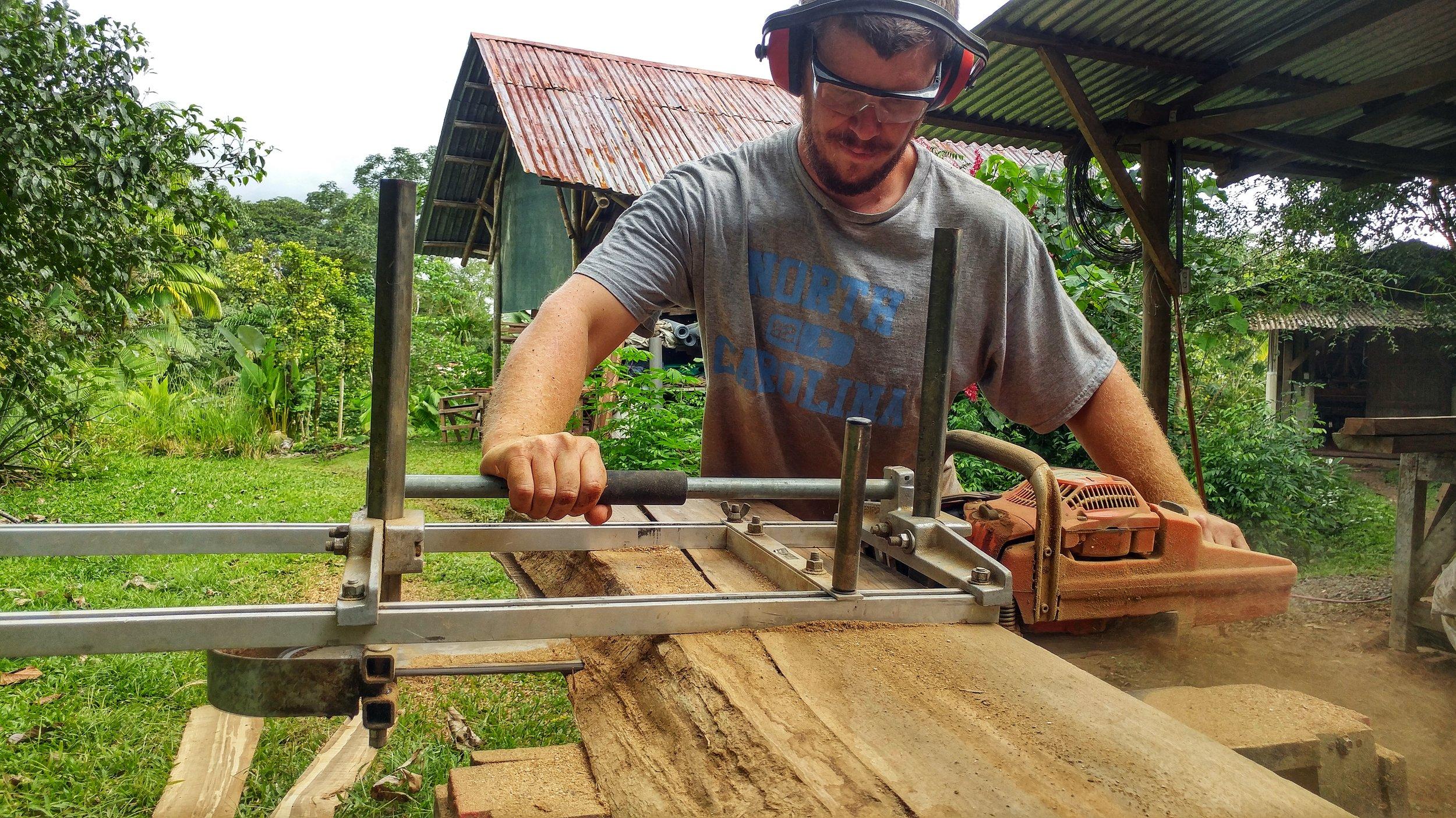 Alaskan Chainsaw Mill