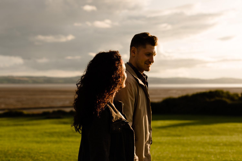 Golden hour couple shoot in Merseyside