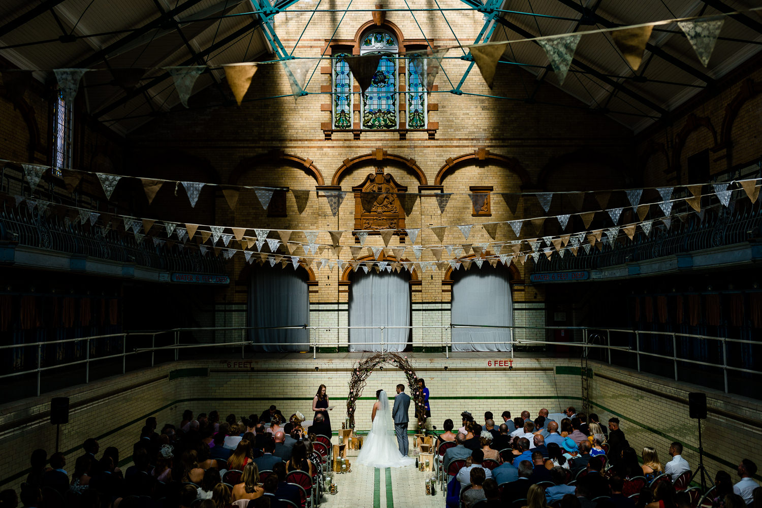 Bathed in light, a ceremony at Victoria Baths