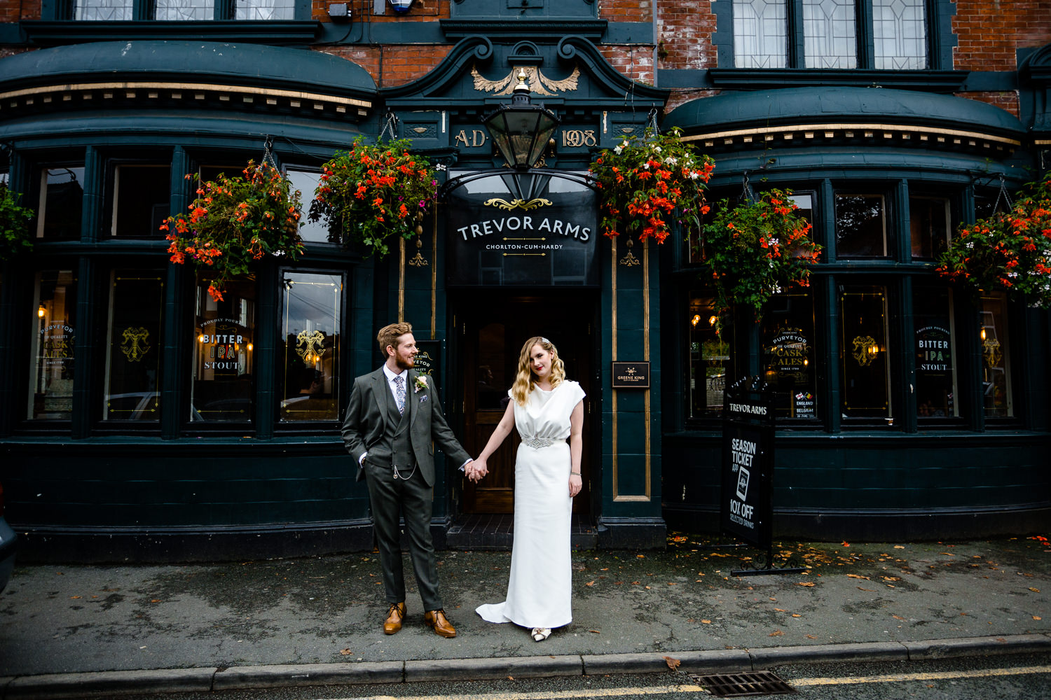 A wedding in Chorlton on Beech Road at The Lead Station