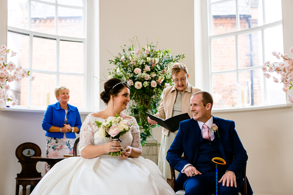 Bride and groom at their Iscoyd Park ceremony wedding photography