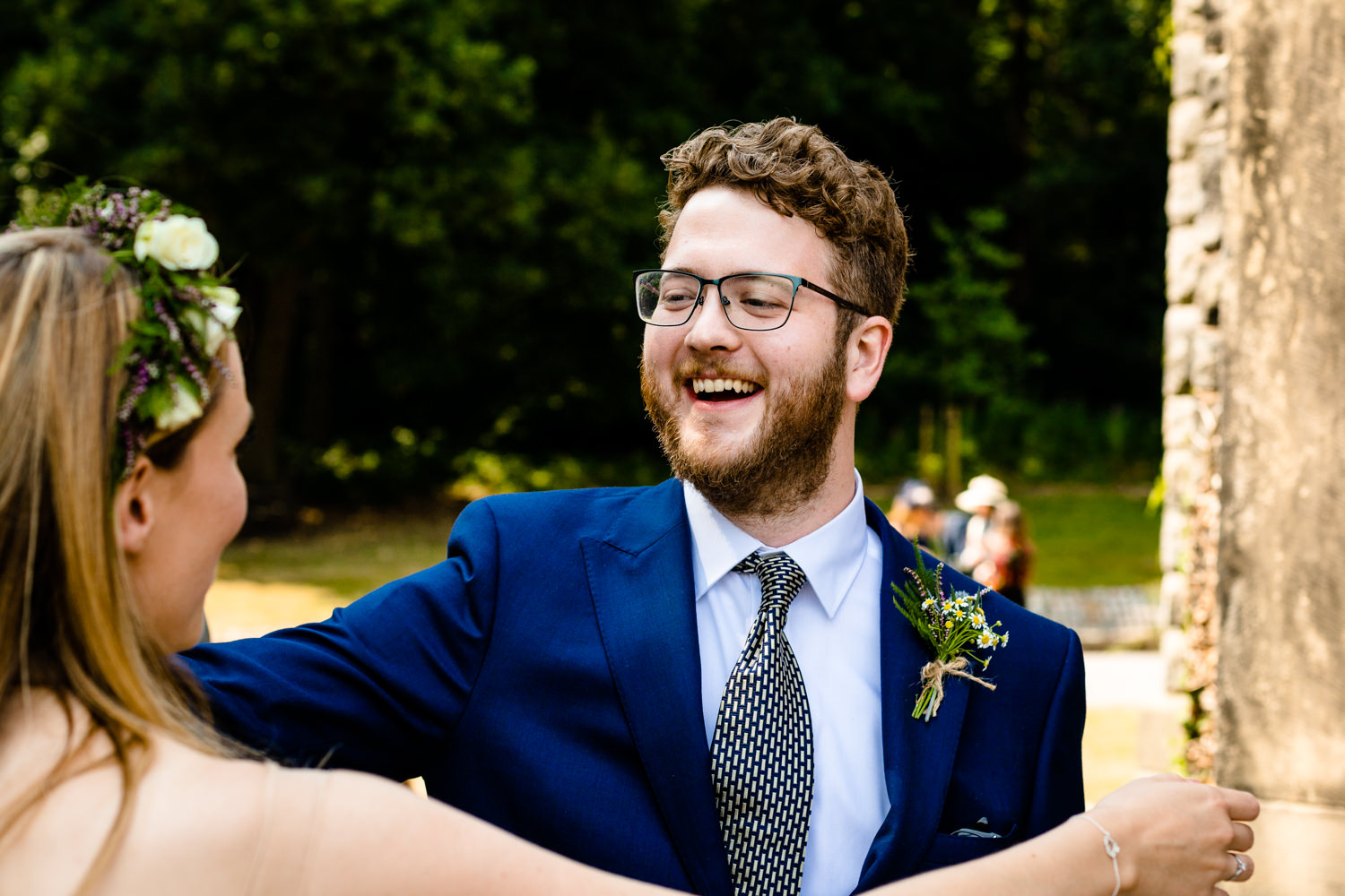 Hugs from guests,  Colourful Whirlowbrook Hall photographs