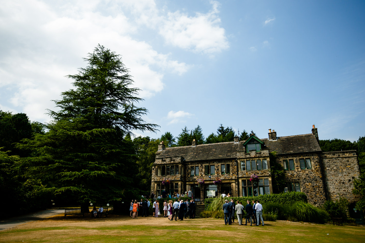 Summer drinks on the lawn, relaxed Whirlowbrook Hall photographers