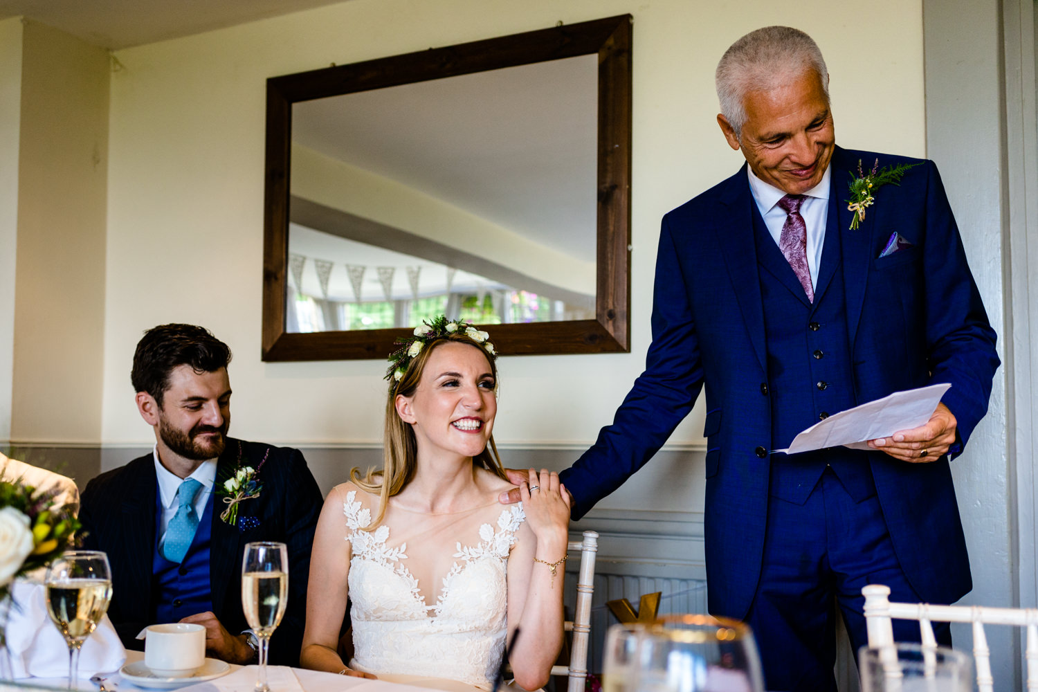 Father of the bride speech wedding	photographs Whirlowbrook Hall Sheffield