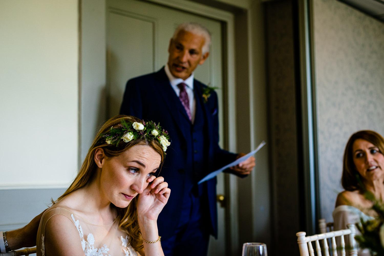 Emotional speech weddingphoto Whirlowbrook Hall