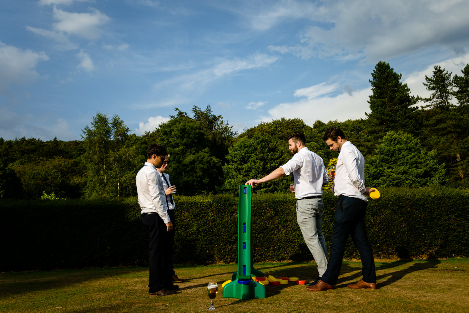 Lawn games,relaxed Whirlowbrook Hall photograph