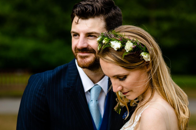 Bride and Groom portrait Whirlowbrook Hallwedding photographs