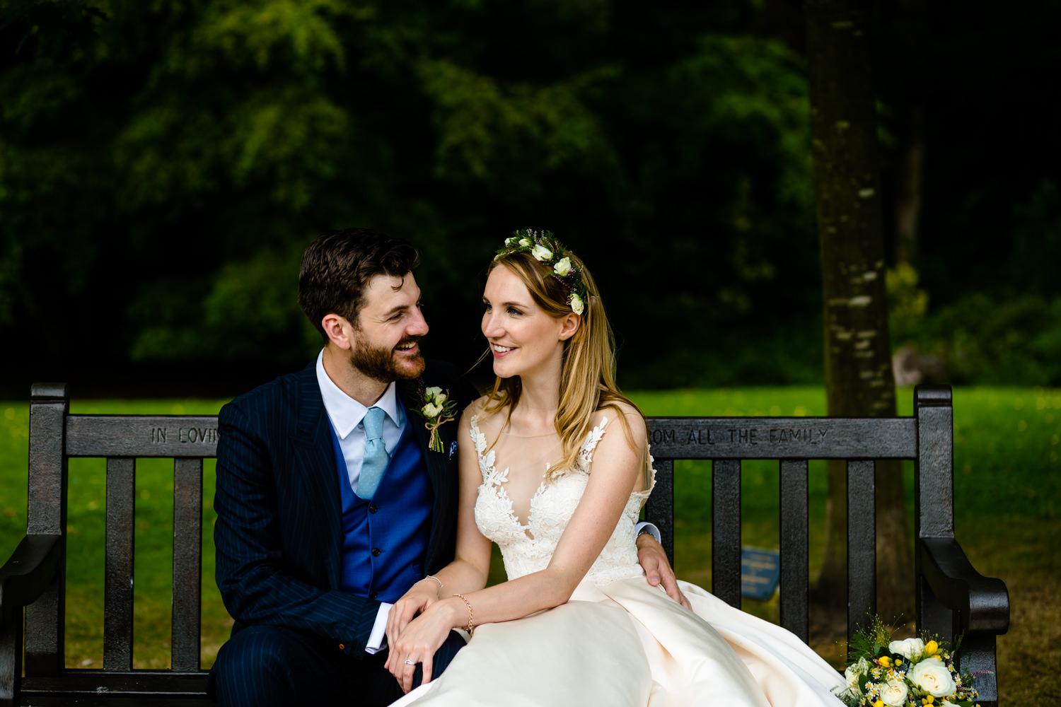 Bride and Groom Bryony & Oliver, a Whirlowbrook Hall wedding photograph