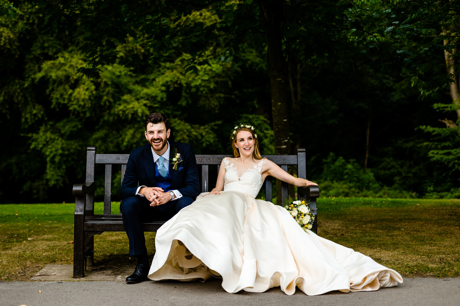Relaxed Wedding couple, Whirlowbrook Hall wedding photographers