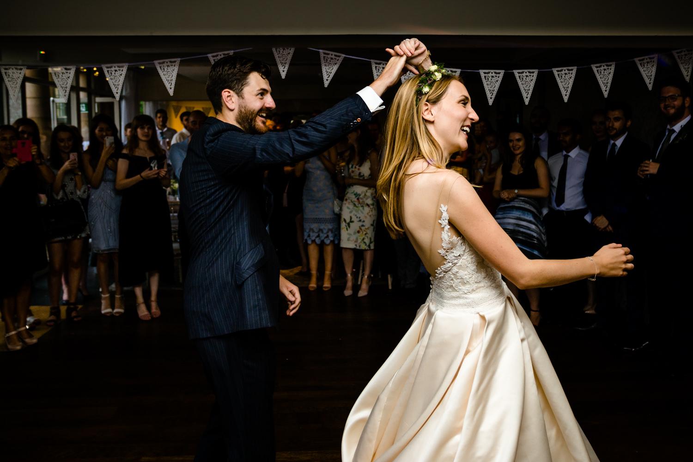 Fun first dance, Whirlowbrook HallSheffield wedding photographers