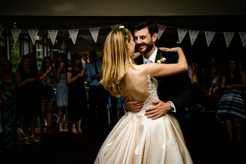 Romantic first dance Whirlowbrook Hall Sheffield wedding photos