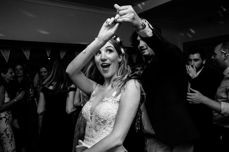 Dance floor action Whirlowbrook Hall Sheffield wedding photograph
