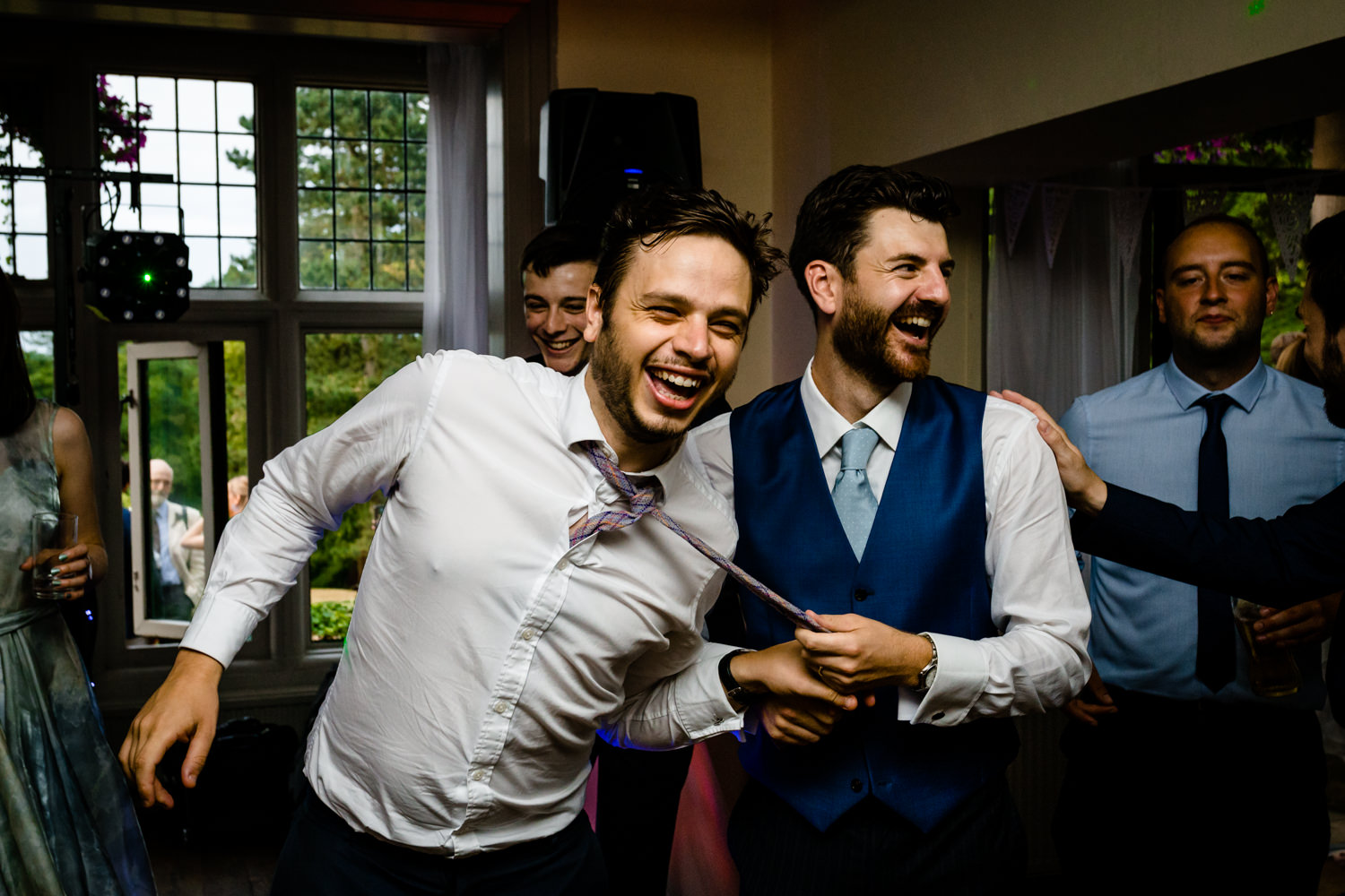 Dance floor action Whirlowbrook Hall Sheffield wedding photographs