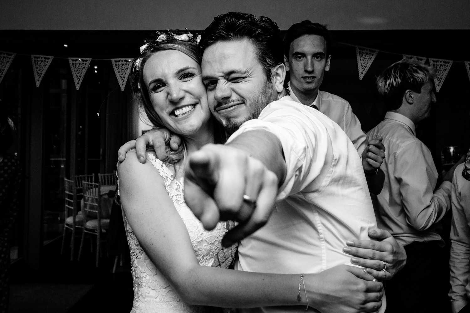 Party atmosphere Whirlowbrook Hall Sheffield wedding photo