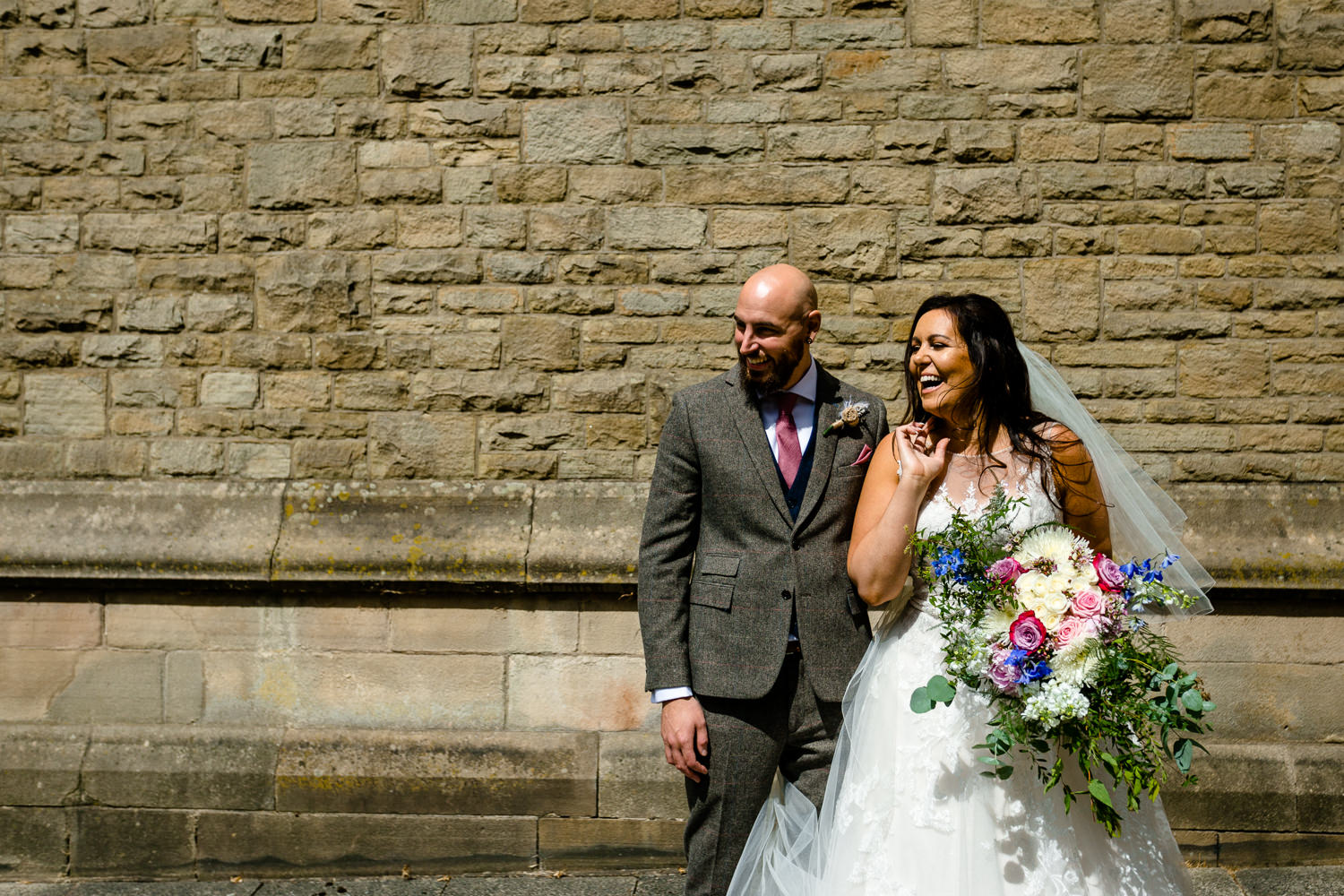Colourful Rochdale wedding photo