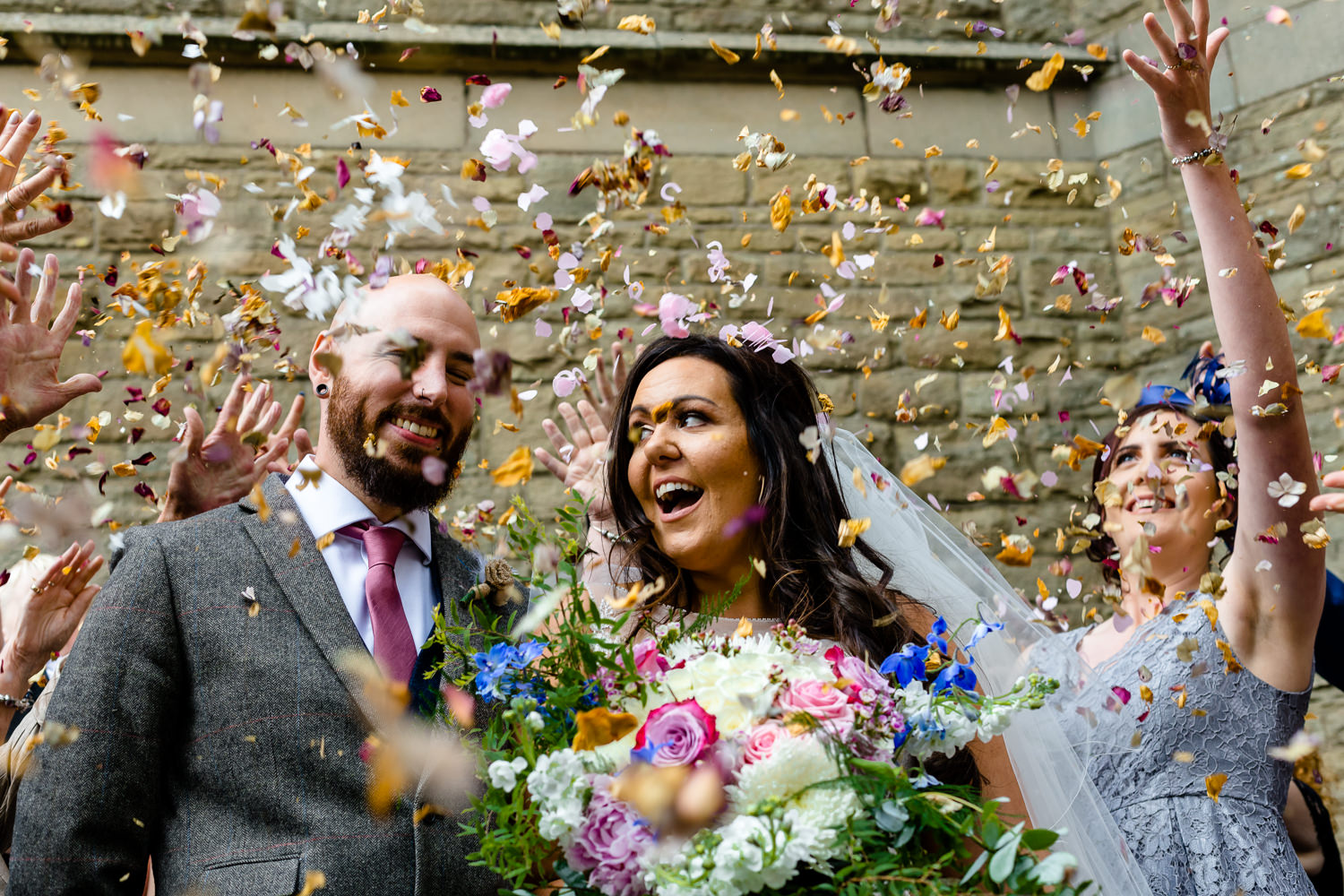 Confetti, wedding photographers Rochdale
