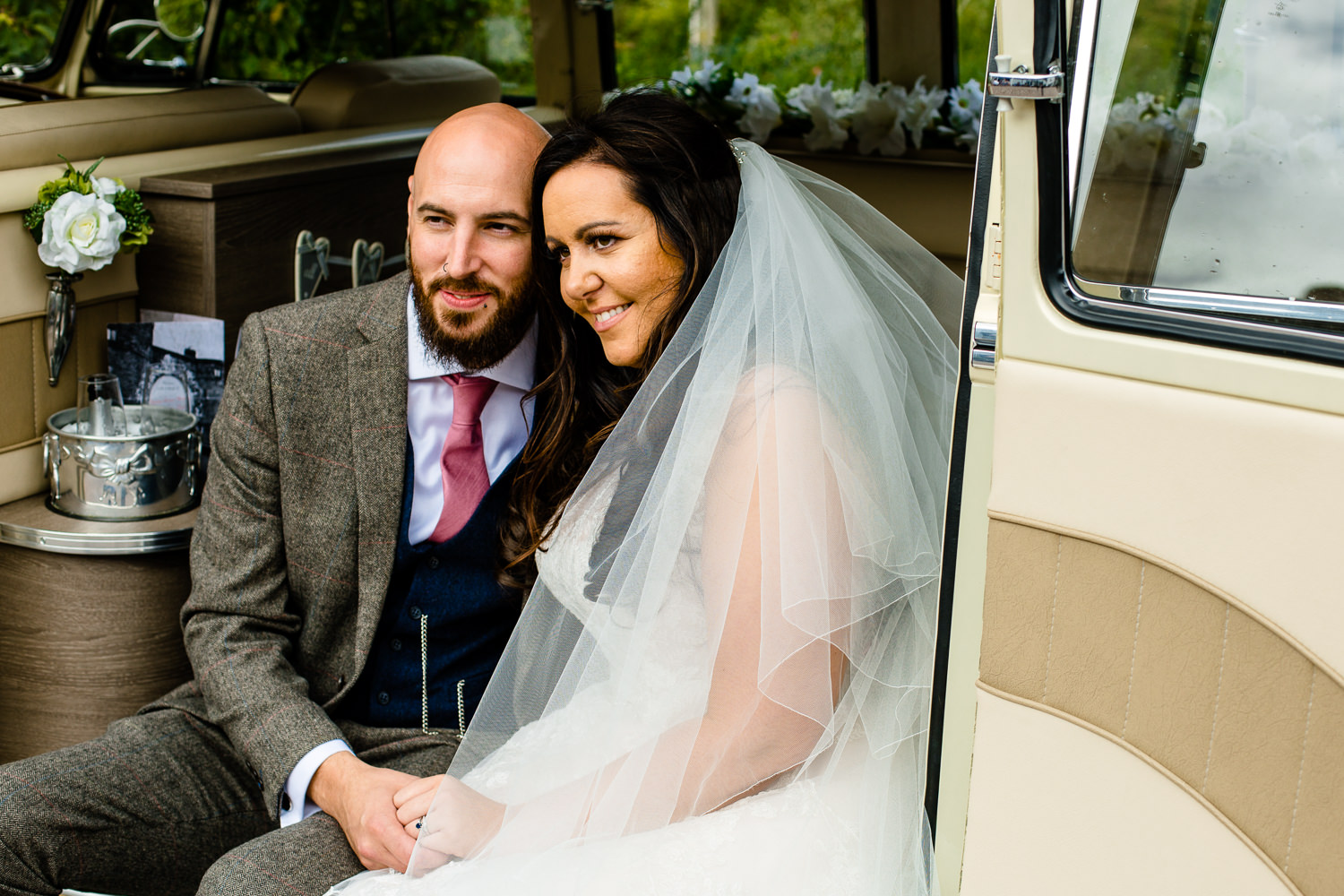 Rochdale wedding photos, vintage VW camper van