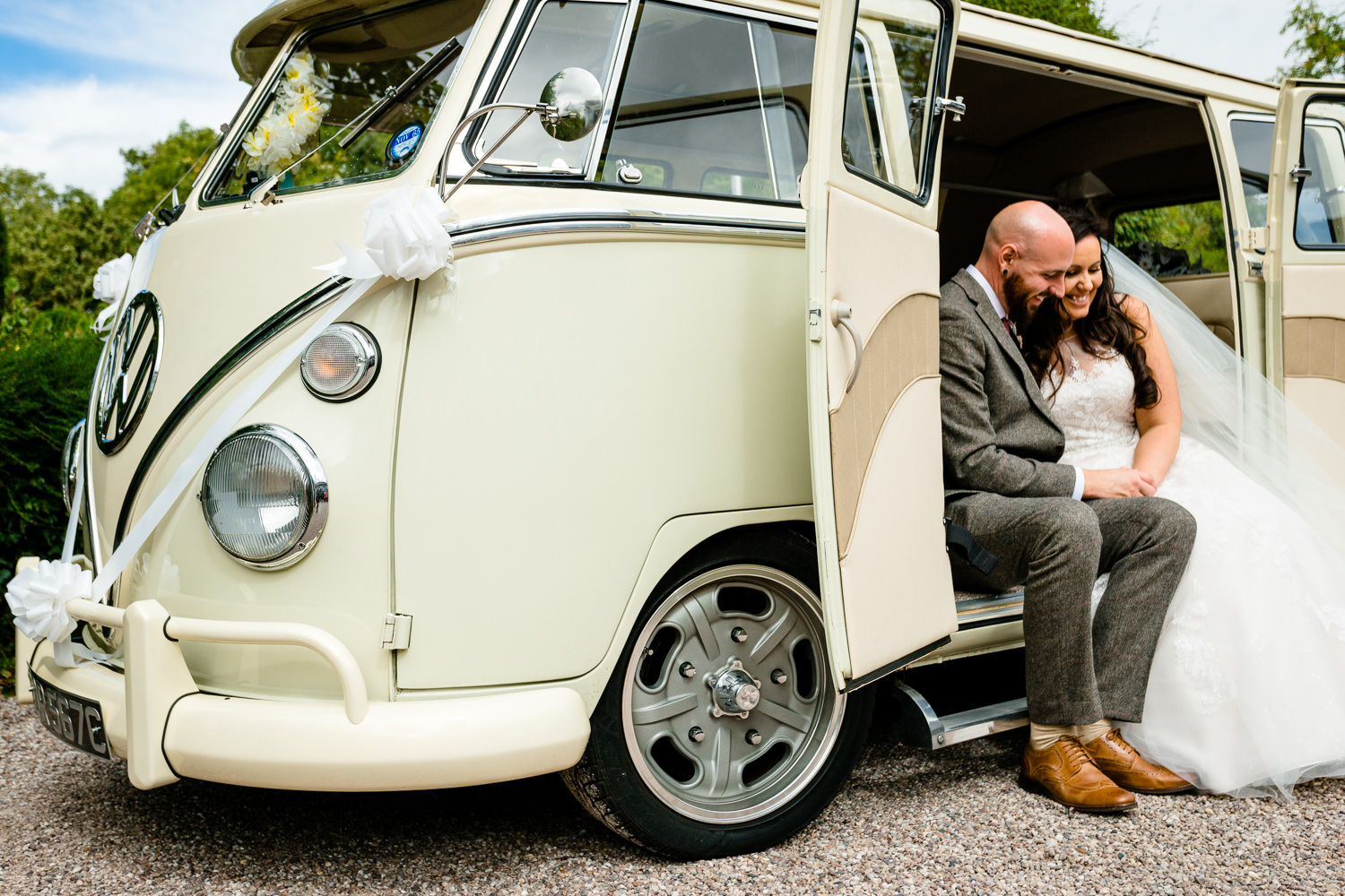Vintage VW campervan, wedding photos Rochdale