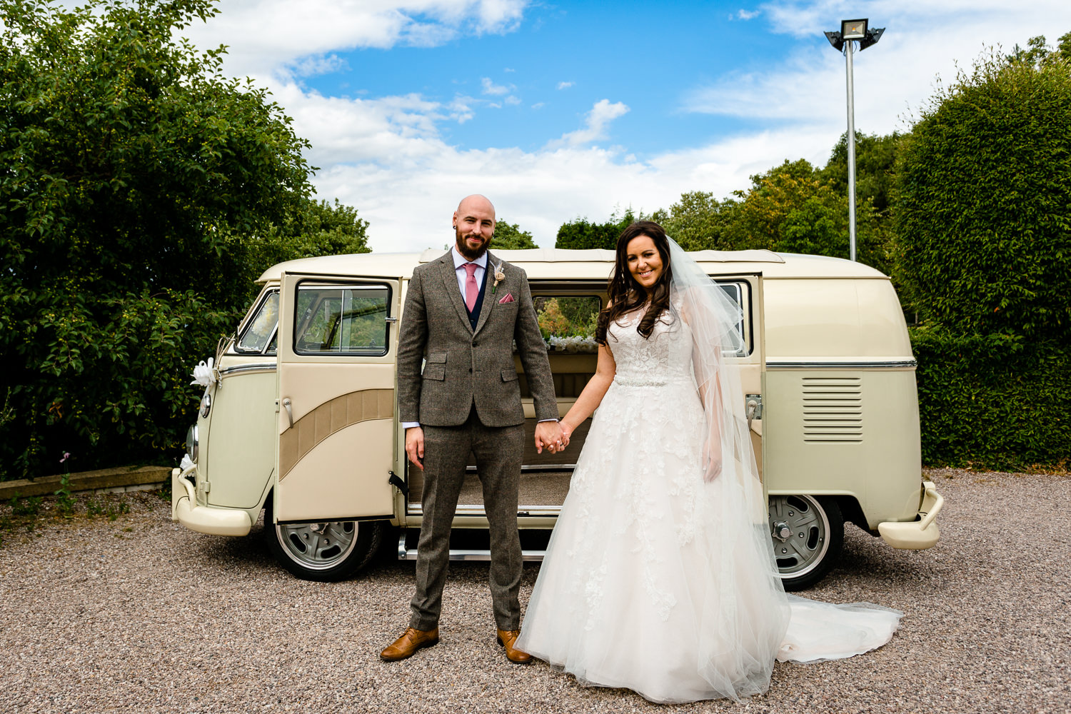 Colourful Rochdale wedding photograph