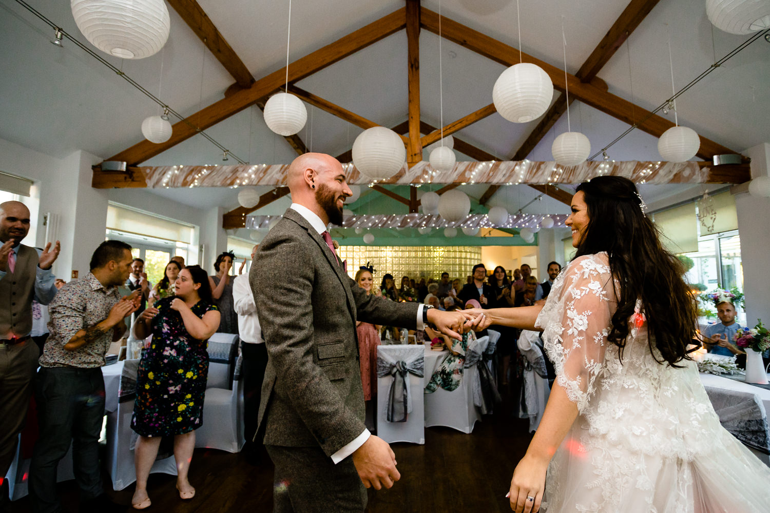 First dance at Bellavista Restaurant, wedding photographs Rochdale