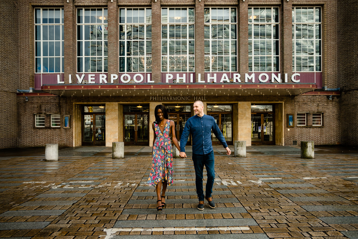 Colourful wedding photos Liverpool Philharmonic
