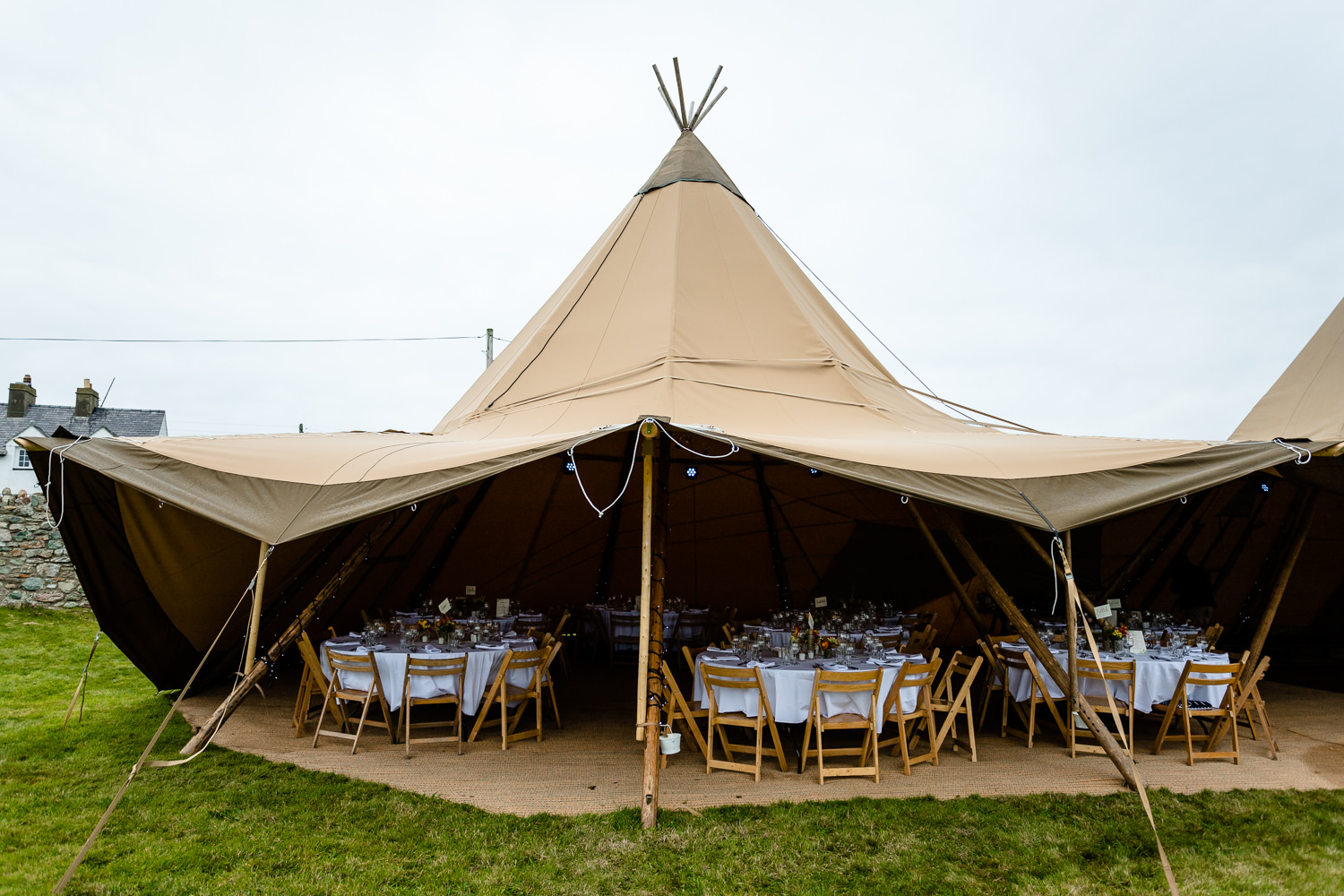 Wedding tipi but Event in a Tent