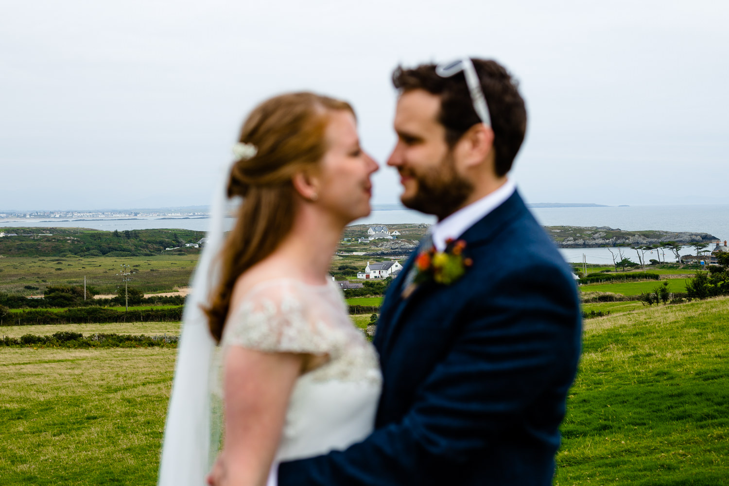 The Rhoscolyn landscape on a wedding day, Colourful Anglesey wedding photographs
