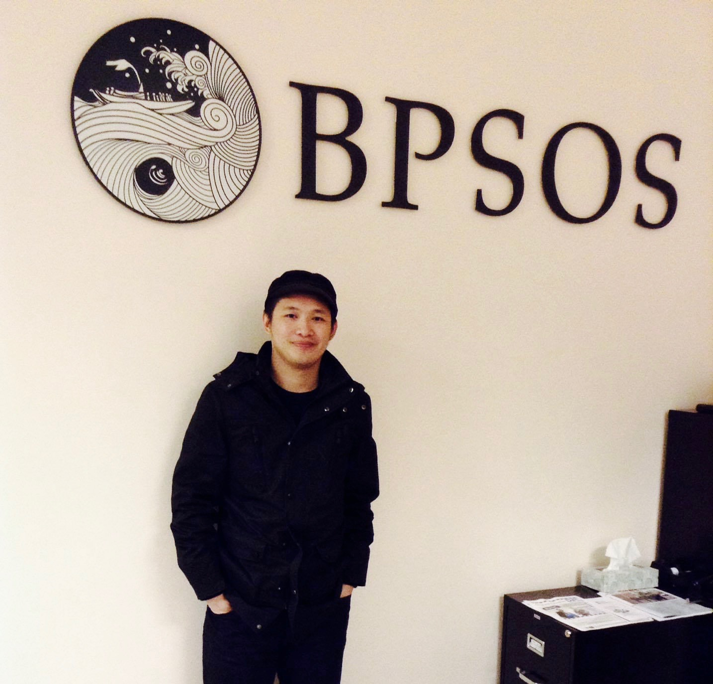 Trung Nguyen at BPSOS office in Falls Church, Virginia. Photo taken by Holly Nguyen.