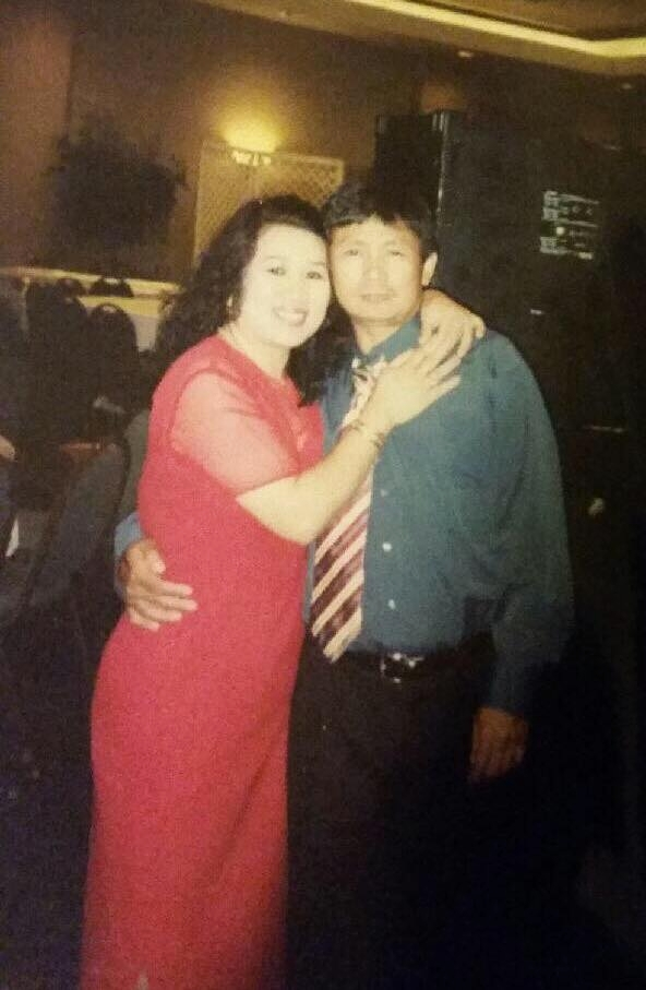My parents at a wedding where my dad's band performed.