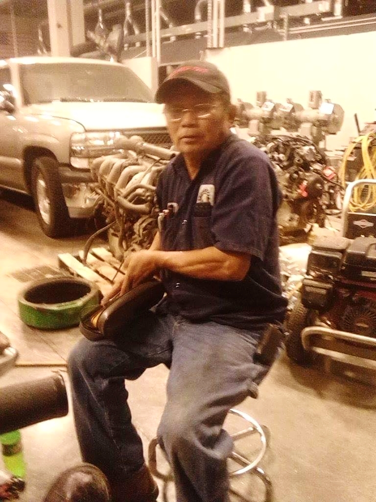 My dad also loved to fix cars and rebuild engines.